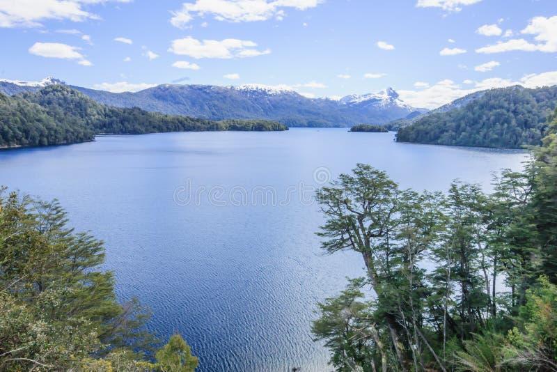 Scenisk sikt i Patagonia arkivbild