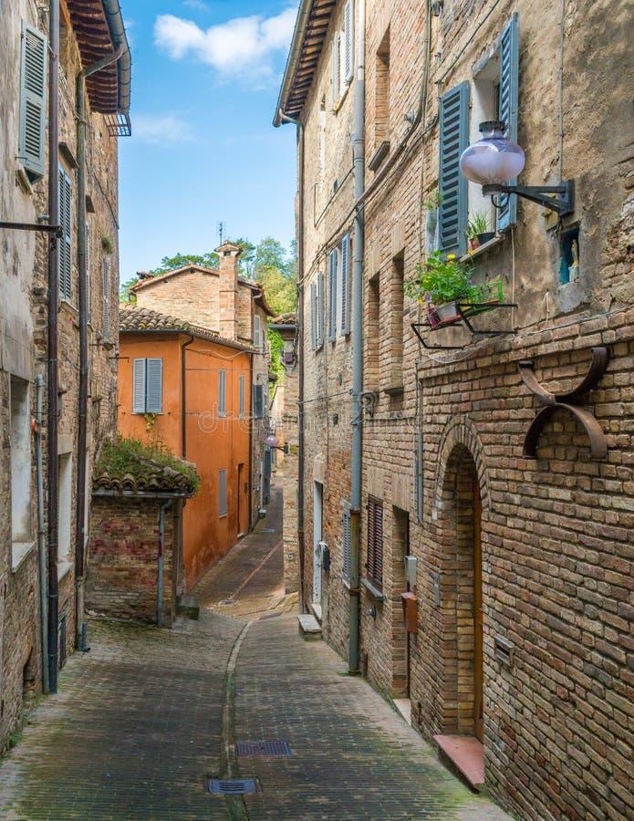 Scenisk sikt i Urbino, stad och världsarv i den Marche regionen av Italien fotografering för bildbyråer