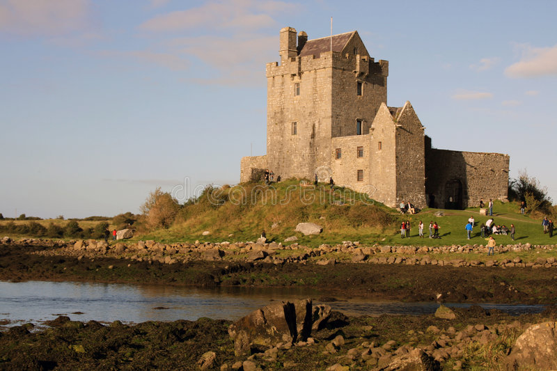 scenisk slottirländare royaltyfri foto