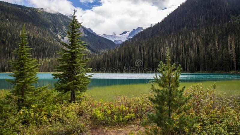 Sceniska Joffre Lake arkivbilder