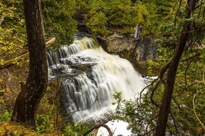 Sceniska Jones Falls av Owen Sound royaltyfri bild