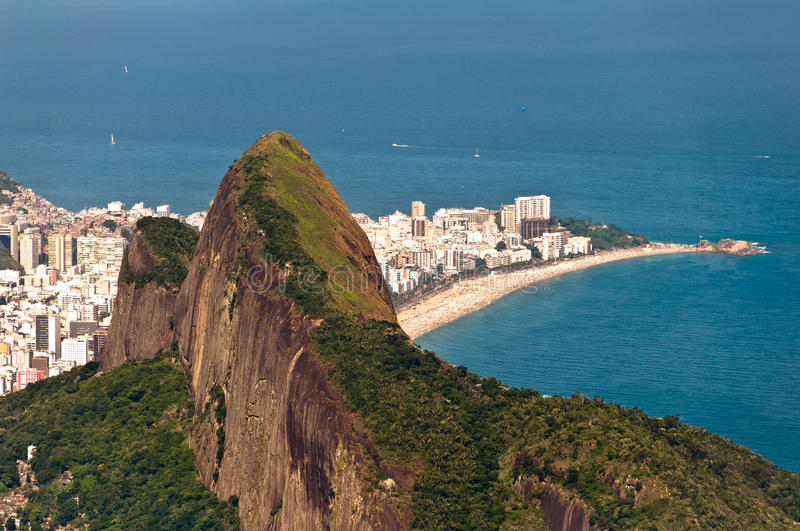 Sceniska Rio de Janeiro Aerial View arkivfoto