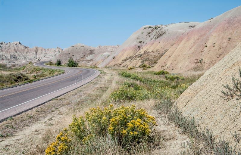 Sceniskt drev i South Dakota royaltyfri foto