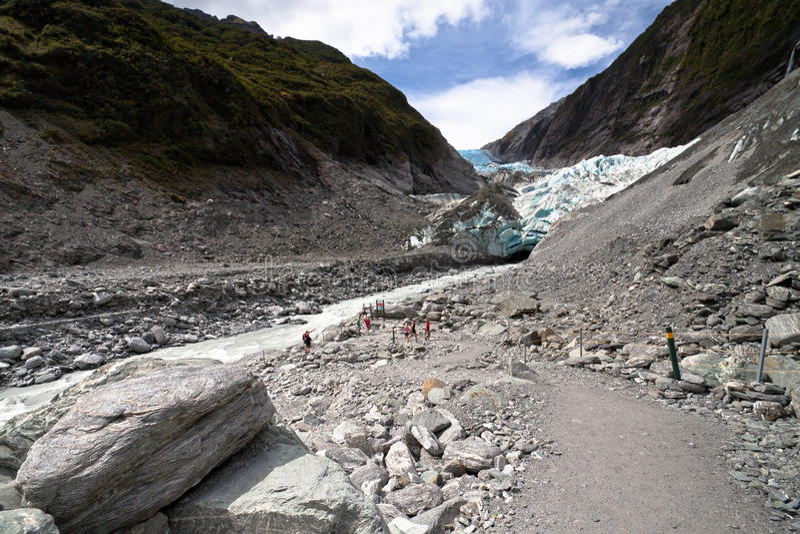Sceniskt landskap på Franz Josef Glacier royaltyfria bilder