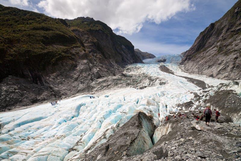 Sceniskt landskap på Franz Josef Glacier arkivbilder