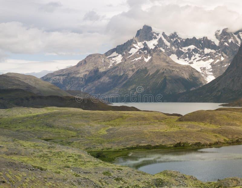 Sceniskt landskap på Torres Del Paine National Park, Patagonia, Chile royaltyfri foto