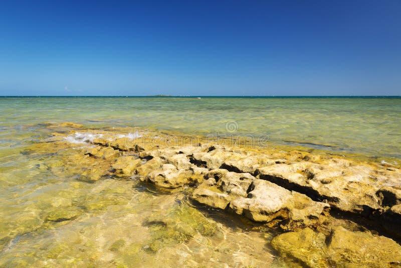 Sceniskt Nya Kaledonien hav arkivfoto