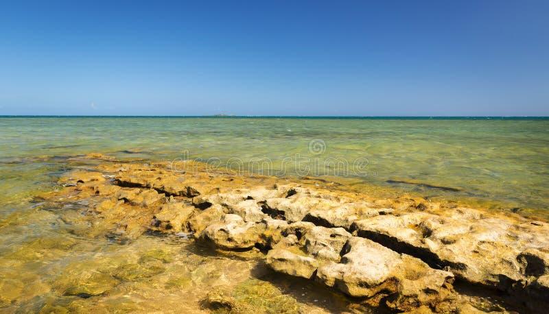 Sceniskt Nya Kaledonien hav royaltyfri fotografi