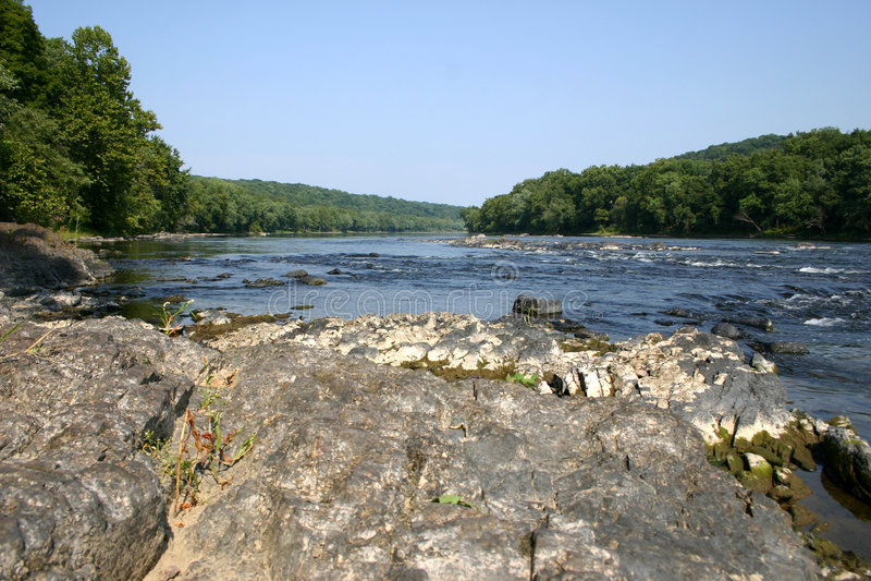 sceniskt wild för delaware flod fotografering för bildbyråer