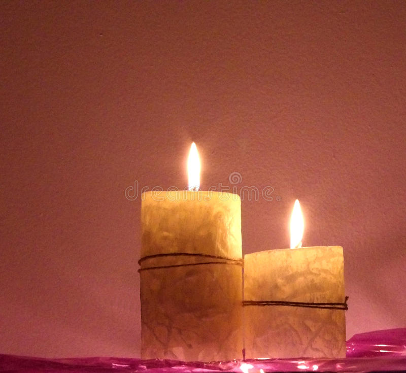 Scented candles. royalty free stock image