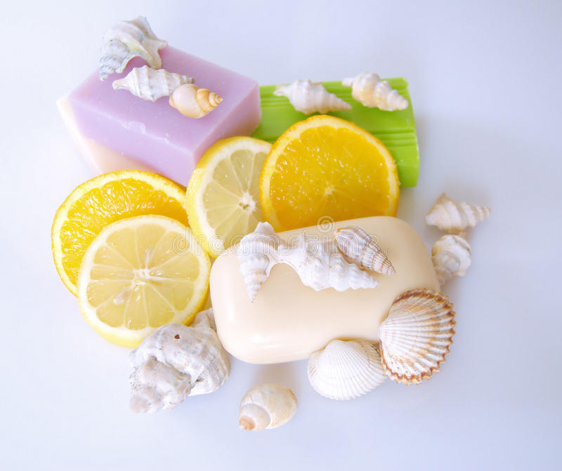 Download Scented soap stock image. Image of fragrant, slices, decor - 13376671