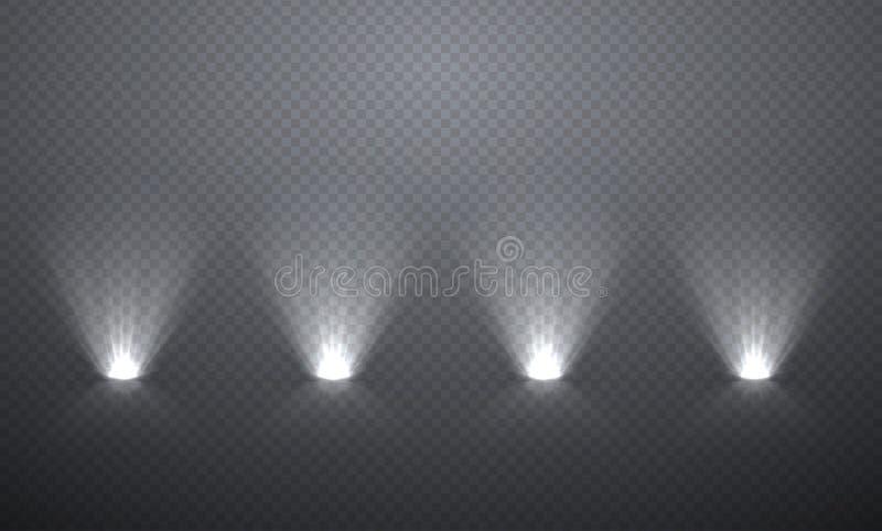 Sceny iluminacja spod spodu, przejrzyści skutki na szkockiej kracie da ilustracji