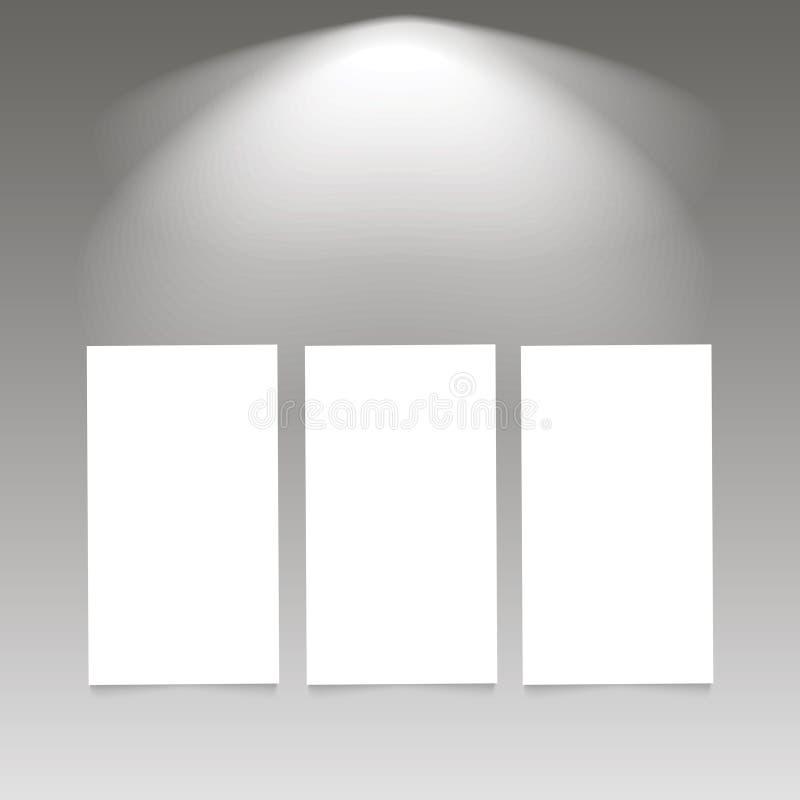 Sceny iluminacja Zimny lekki skutek Scena iluminujący światło reflektorów z plakatem również zwrócić corel ilustracji wektora royalty ilustracja