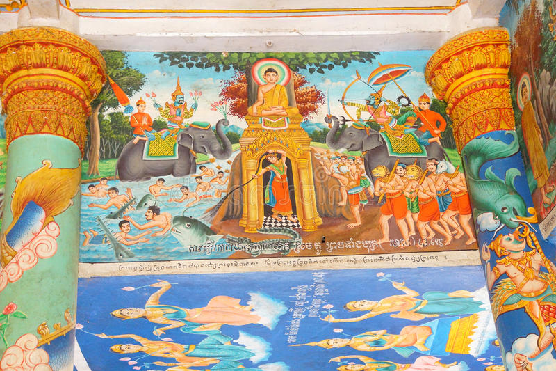 Sceny od Buddha życia obraz stock