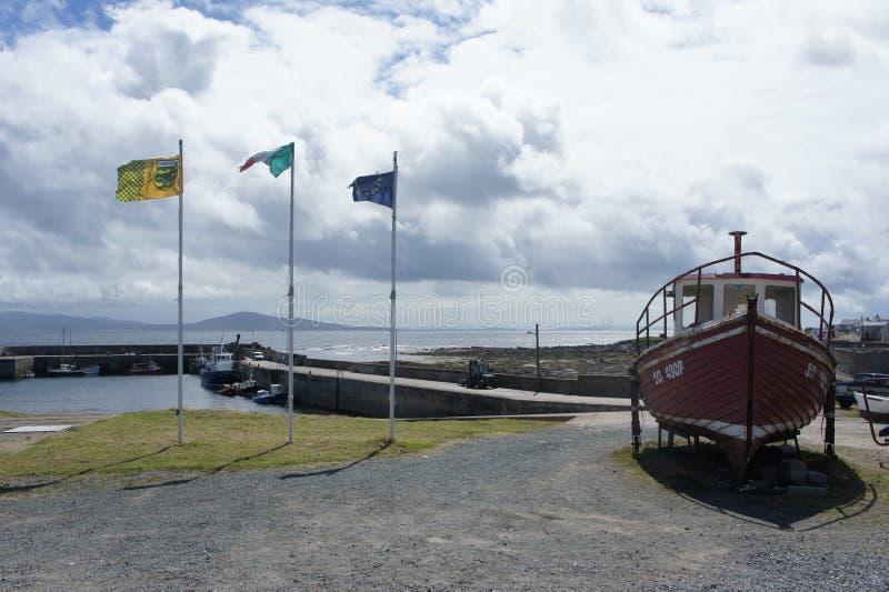 Sceny od Torysowskiej wyspy, Donegal, Irlandia fotografia stock
