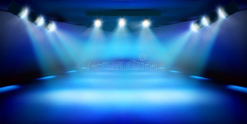 Sceny podium podczas przedstawienia niebieska t?a r?wnie? zwr?ci? corel ilustracji wektora ilustracja wektor