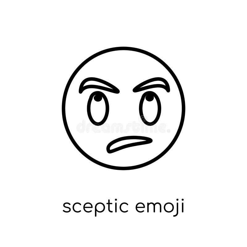 Sceptic emoji icon from Emoji collection. Sceptic emoji icon. Trendy modern flat linear vector sceptic emoji icon on white background from thin line Emoji vector illustration