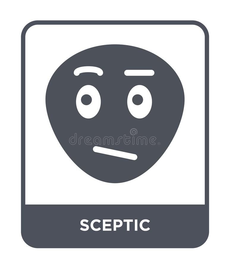sceptic icon in trendy design style. sceptic icon isolated on white background. sceptic vector icon simple and modern flat symbol royalty free illustration