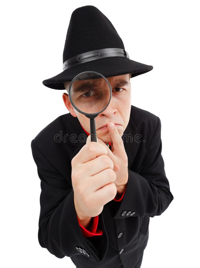 Download Sceptical detective stock image. Image of hand, inspect - 21272771