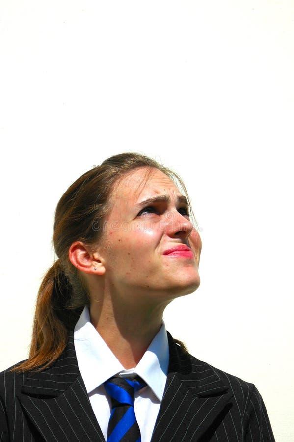 Sceptical student stock photos