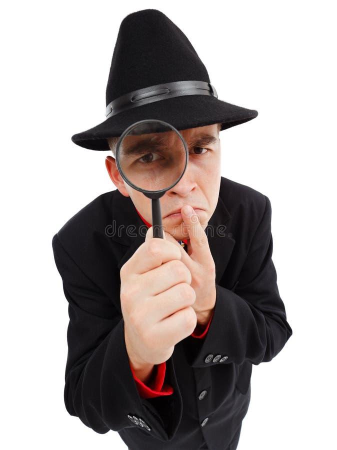Sceptische detective stock afbeelding