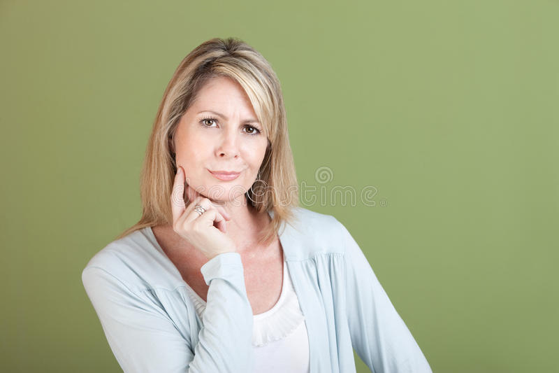 Sceptische Vrouw stock foto's