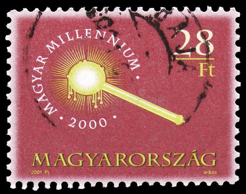 Sceptre ungersk milleniumserie, circa 2001 royaltyfri bild