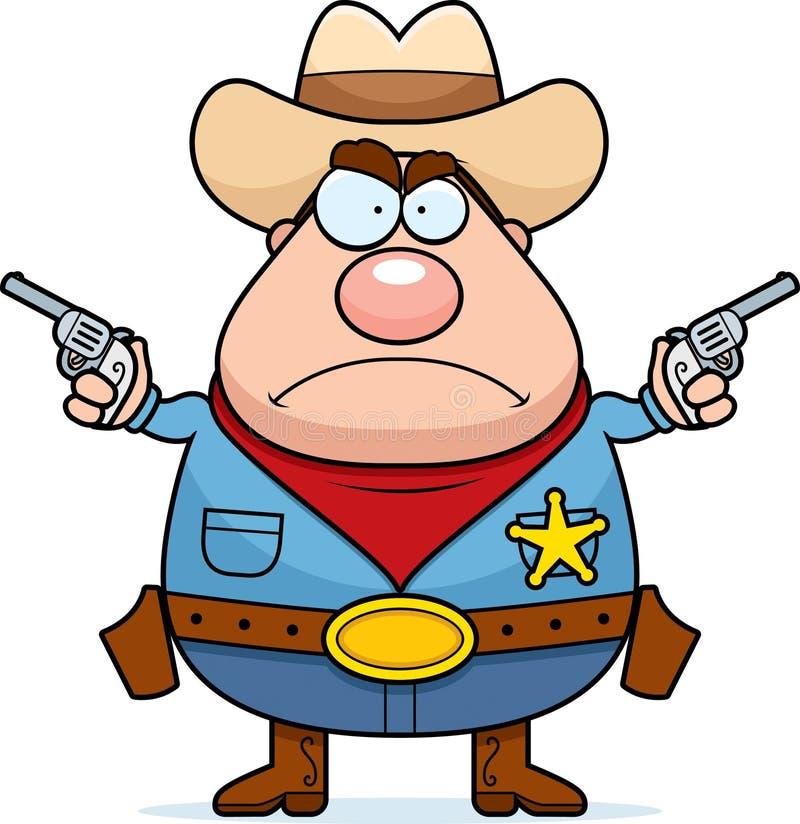 Sceriffo arrabbiato illustrazione di stock