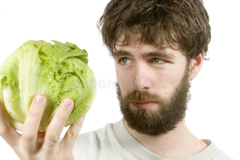 Scettico dell'insalata immagine stock