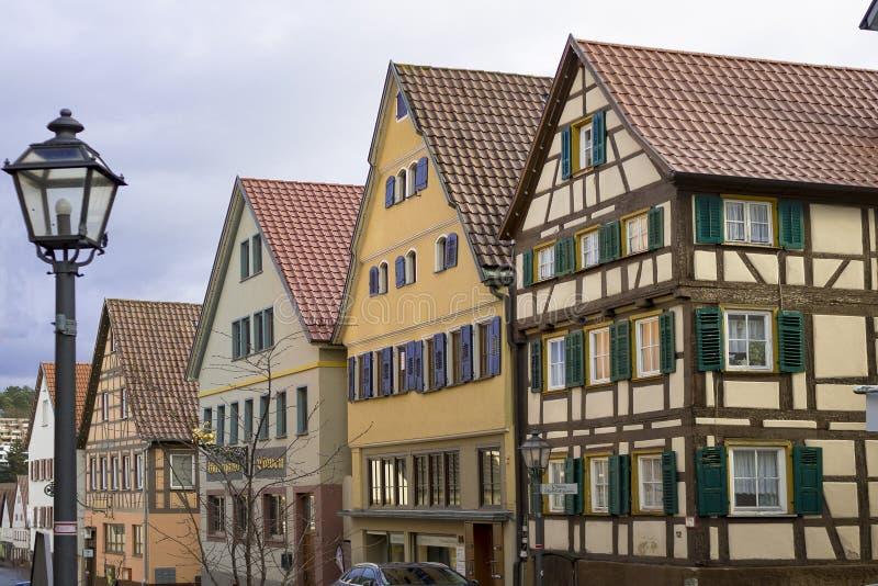 Schöne alte deutsche Stadt oder Großstadt nahe Stuttgart Weil Der Stadt, Deutschland lizenzfreies stockfoto