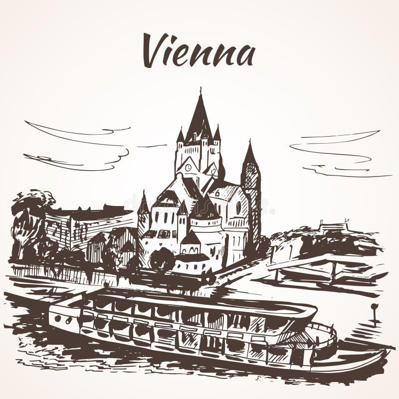 Schönbrunn宫殿,维也纳 向量例证