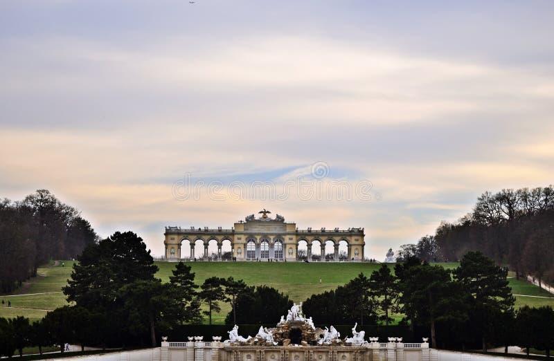 Schönbrunn, Gloriette,维恩 库存图片