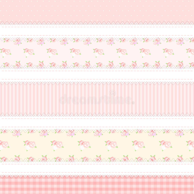 Schäbiges Chic Provence-Art 5 Hintergründe stock abbildung