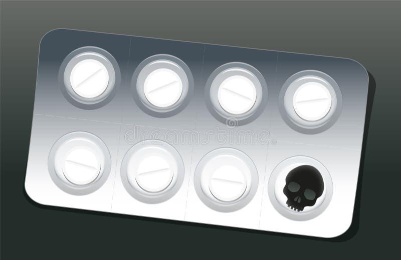 Schädel der Pillen-Blasen-eine vektor abbildung