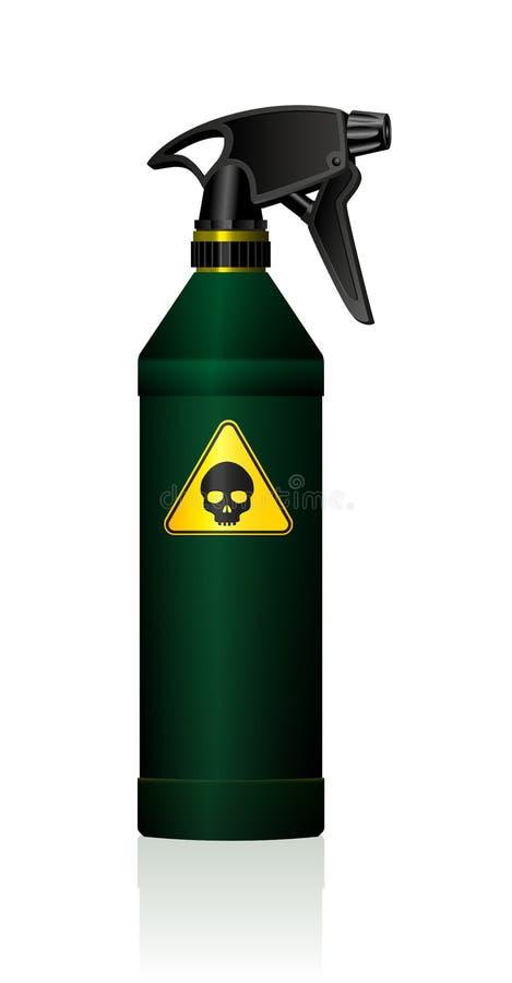 Schädel der Sprühflasche-Gift-toxischen Substanz vektor abbildung
