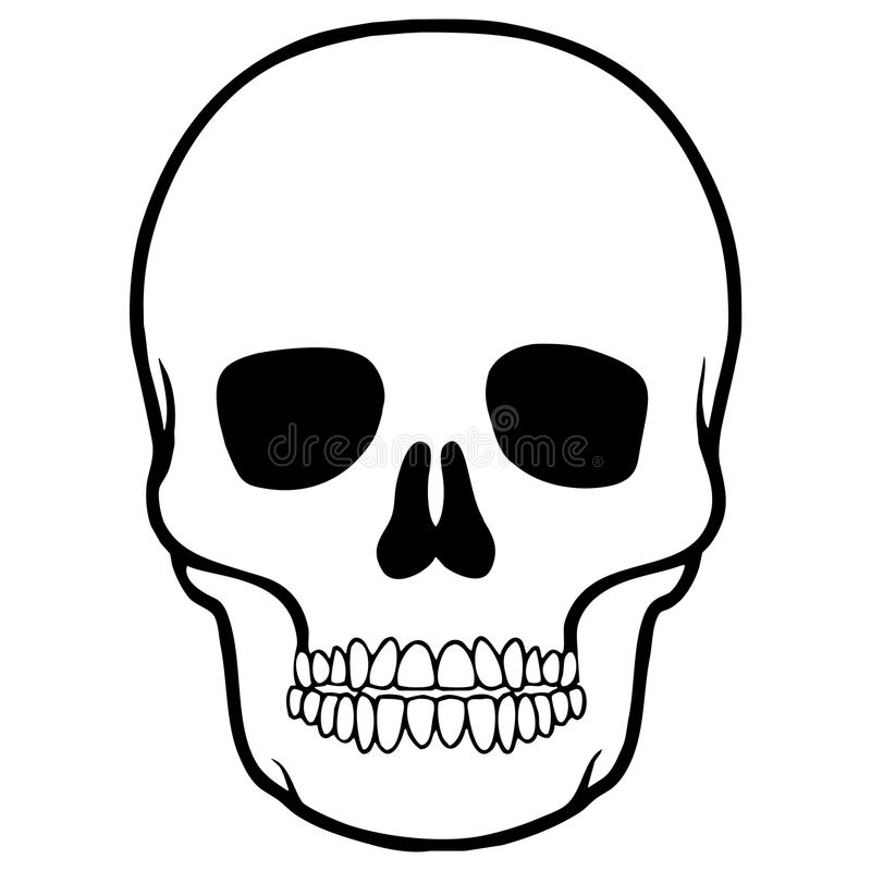 Schädel für Schädel Mexikaner stock abbildung
