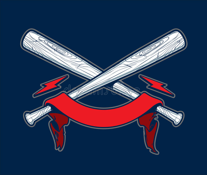 Schädel mit Baseballschlägern stock abbildung