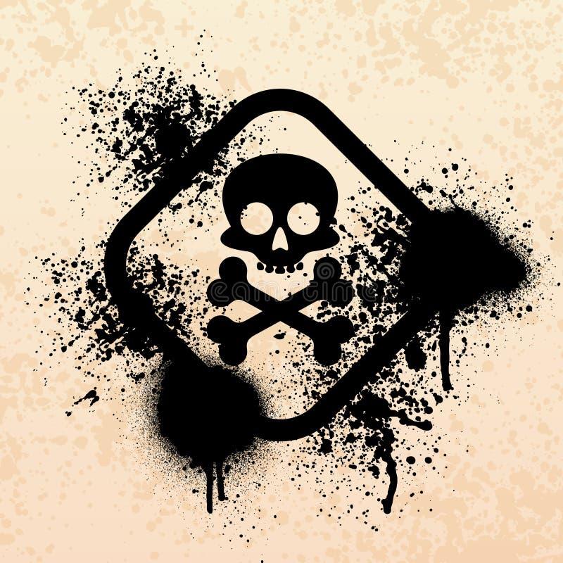 Schädel Splatter grunge Symbol vektor abbildung