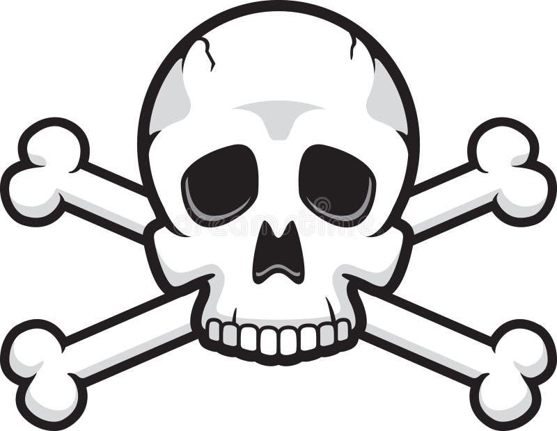 Schädel und gekreuzte Knochen stock abbildung