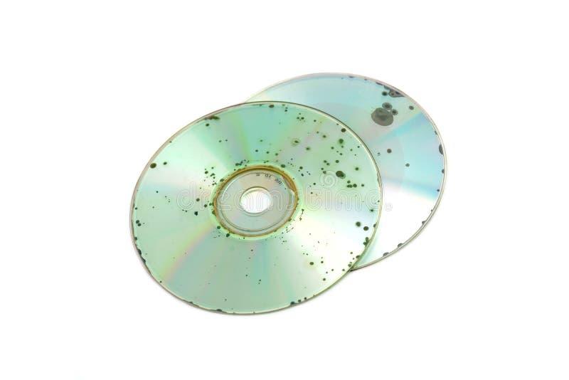 Schädigende CD DVD lizenzfreies stockbild