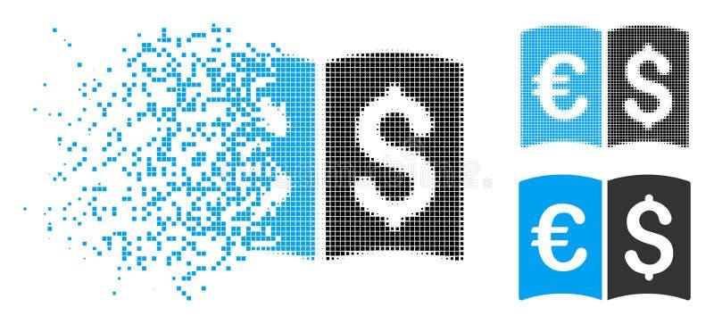 Schädigender Dot Halftone International Catalog Icon lizenzfreie abbildung
