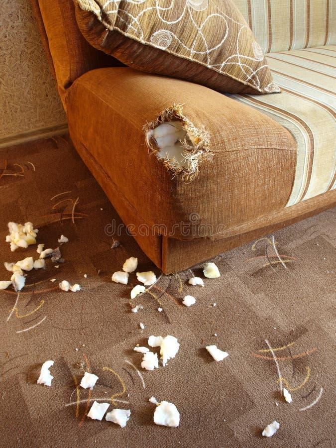 Schädigendes Sofa 2 stockfotos