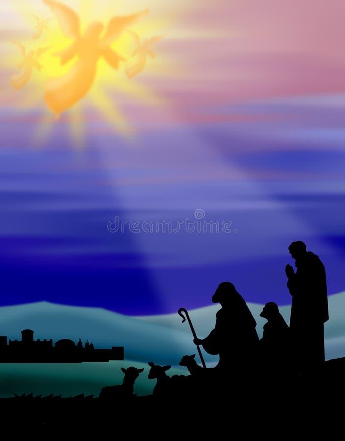Schäferhunde von Bethlehem lizenzfreie abbildung