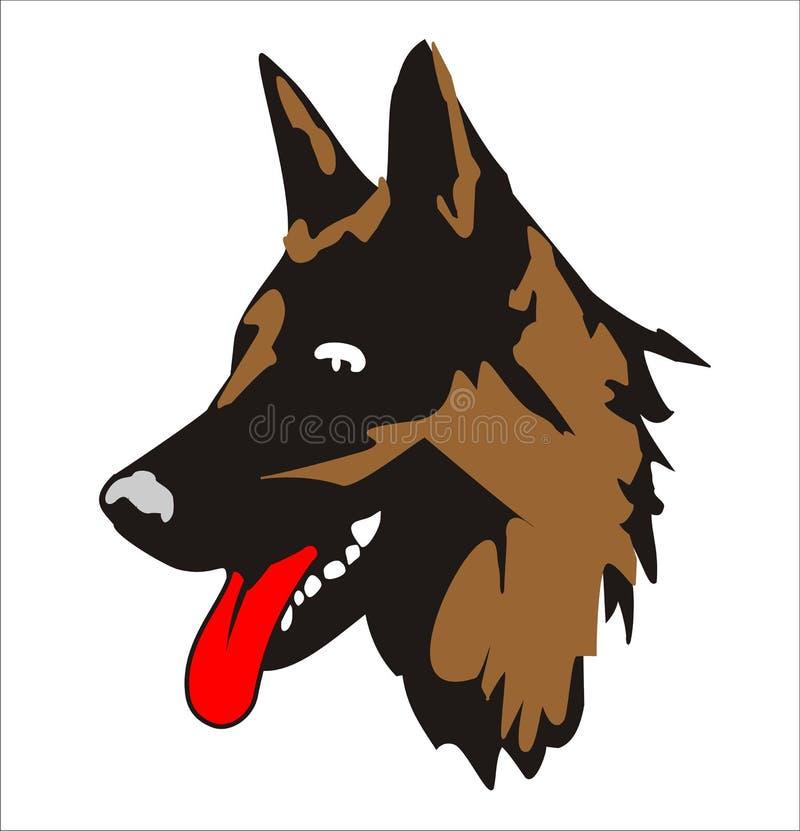 Schäferhundportrait vektor abbildung