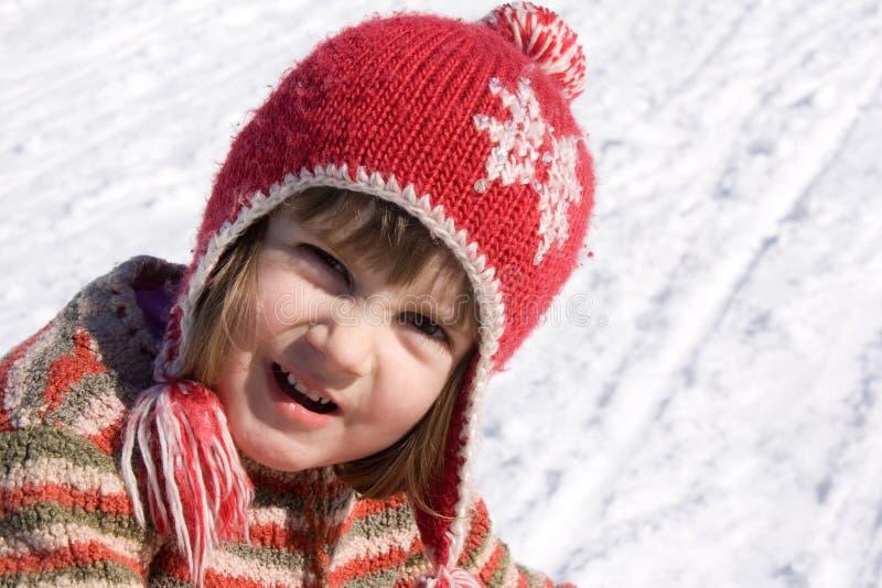 Schätzchen auf Schnee lizenzfreie stockbilder