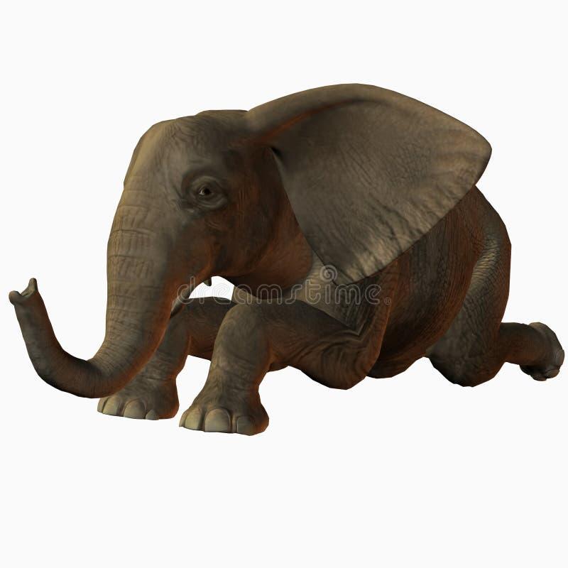Schätzchen-Elefant-Knien vektor abbildung