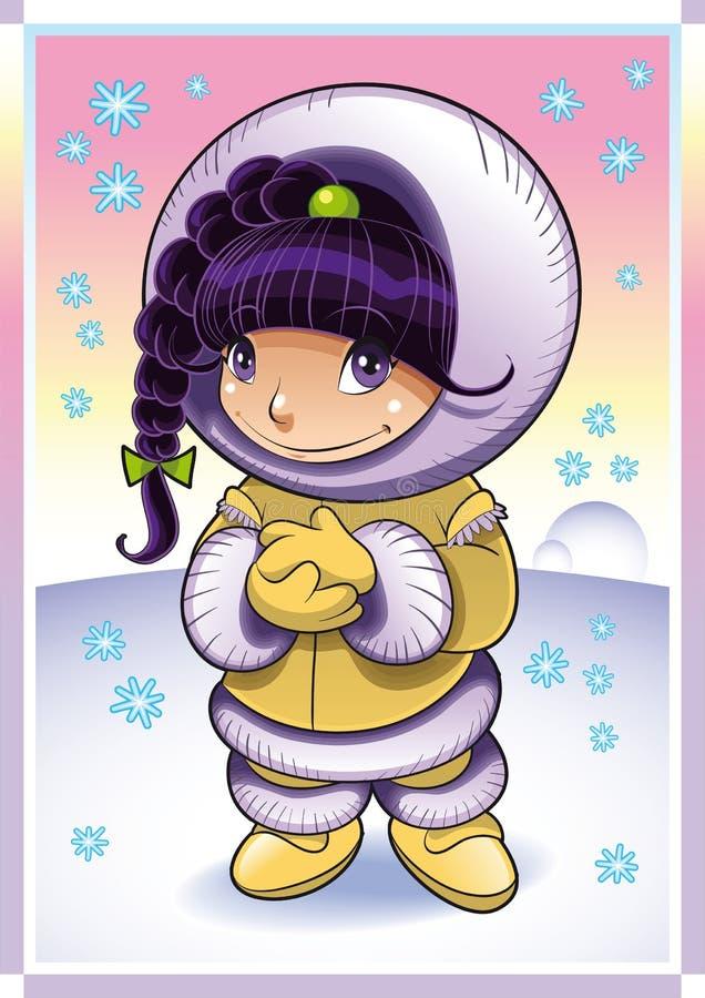 Schätzchen-Eskimo lizenzfreie abbildung