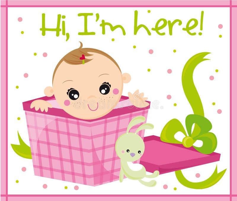 Schätzchen geboren lizenzfreie abbildung