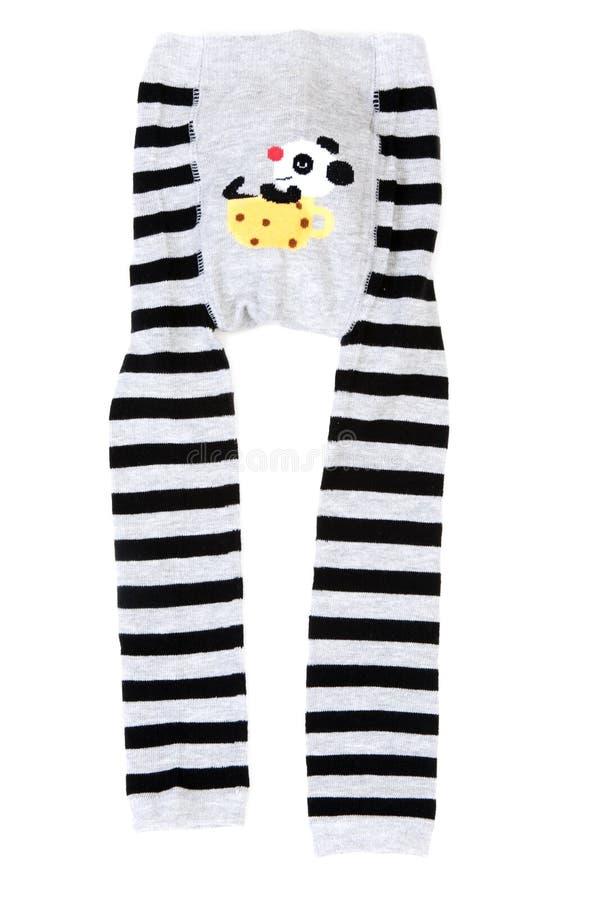 Schätzchen gestreifter Pantyhose mit Muster lizenzfreie stockfotografie