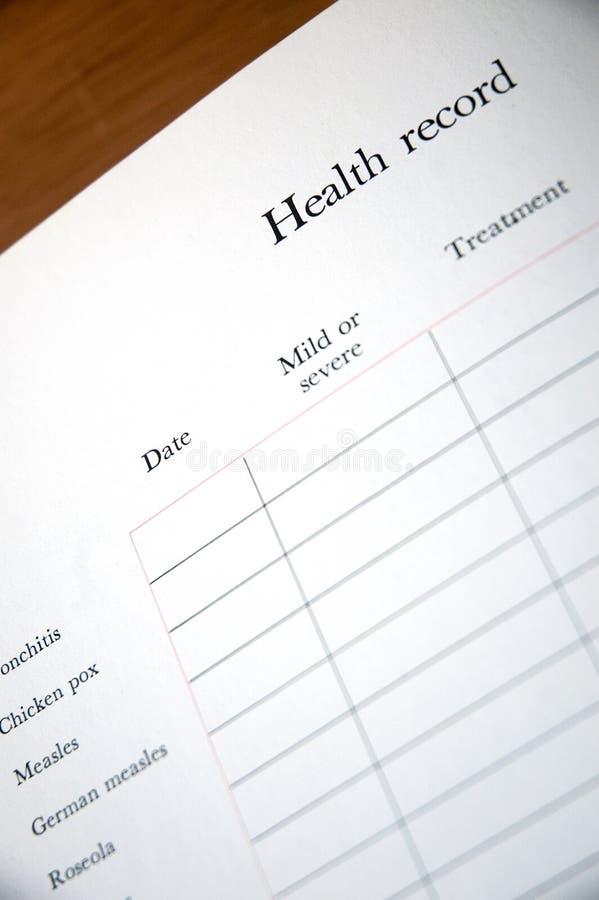 Schätzchen-Gesundheitsakte stockfotos